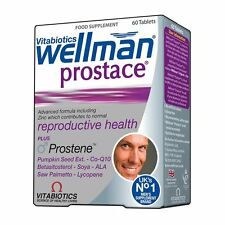 Vitabiotics Wellman Prostace - 60 Tablets Capsules Prostate Food Supplement NEW