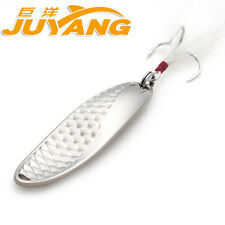 JUYANG Scale WaveII Metal Spoon Fishing Lure Gold Silver 5g 10g 15g 20g