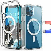 New Clear Magnetic Hard Case For Apple iPhone 12 Mini/Pro/Pro Max Mag Safe Cover