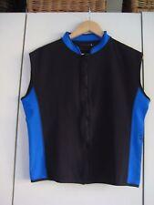 Unisex JOOP Swimwear black and blue stretchy sleeveless top/jacket,  size M