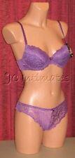Lingerie-Sexy Lace Push Up Bra & Panty Set-Purple(36C/7)