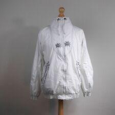SPORTALM White Jacket Vintage Ski Kitzbuhel 14 Gold Lederhosen Full Zip Top Coat