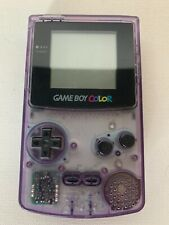 Nintendo GameBoy Color GBC CGB-001 Atomic Purple Clear - Tested