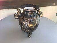 Gothic Jar Urn Ceramic Decor Vintage Game of Thrones Old World Tomb Beasts Black