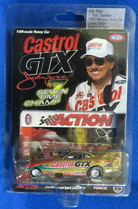 "John Force 1998 Castrol Mustang Funny Car 1:64 Action NHRA ""Seven Time Champ"""