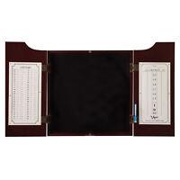 Viper Mahogany Finish Hudson Sisal Bristle Steel Tip Dartboard Game Cabinet