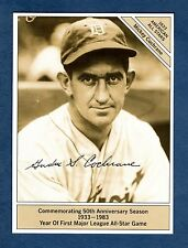 "GIANTsize 4.5""x 6"" Conlon 1933 All-Star: MICKEY COCHRANE, Tigers/1983 Marketcom"
