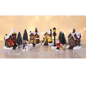 LED Weihnachtsstadt mit Schneedekoration Weihnachtsdorf 3D Weihnachtsszene #197