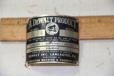 DeWalt radial arm saw model tag for the  post