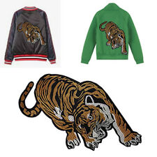 1pcs Angry Tiger L'Aveugle Par-Amour Embroidered patches Sew on 32cm