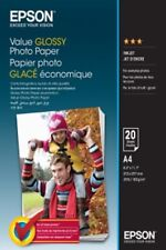 Epson (A4) Value Glossy Photo Paper (Pack of 20 Sheets) 183gsm (White)