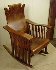 Antique Oak McKinley Rocker / Rocking Chair