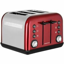 Morphy Richards 242030 Accents 4 Slice Toaster Red New from AO