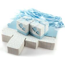 100 x Hellblau Herzchen Hochzeit Gastgeschenk Bonboniere Geschenkbox Kartonage