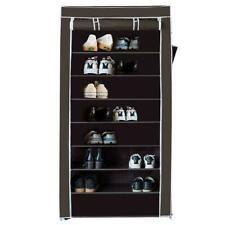 10 Tier Shoe Rack with Dustproof Cover Closet Practical Organize Standing Coffee