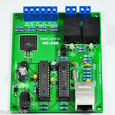 Voltage Monitor Plus 2 Relay Output Controller Internet /LAN 12VDC 1100W [NC240]