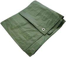 Heavy Duty Waterproof Strong Cover Ground Sheet 12' X 8' Tarpaulin - Green