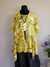 Lagenlook Zipfeltunika BIG Shirt Baumwolle/Leinen A-Linie ~ Maisgelb ~ one size