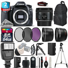 Canon EOS 80D DSLR Camera + 50mm 1.8 STM  + 2yr Warranty -Ultimate Saving Bundle