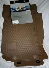 2006 to 2013 Mercedes R Class V251 OEM Rubber Floor Mats -  5 Piece Set - BEIGE
