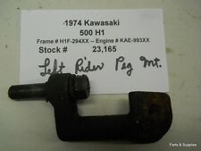1974 Kawasaki 500 H1 Left Driver Foot Peg Mount
