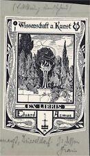 EX LIBRIS BOOKPLATE WISSENSCHAFT UND KUNST E. ASMUS AUGENARZT OCULISTE