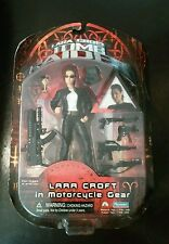 "New 2001 Lara Croft Tomb Raider Figure 6"" In Motorcycle Gear Playmates Paramount"
