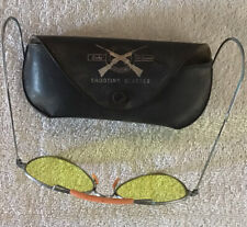 Vintage Lucky McDaniel Instinct Yellow Shooting Glasses With Case