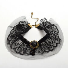 Victorian Black Lace Collar Vintage Gothic Steampunk Lace Collar Choker