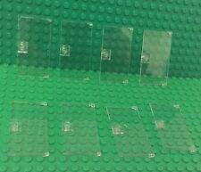 Lego X8 Piece New Trans-clear / Glass Door 1x4x6 With Stud Handle Parts Bulk Lot