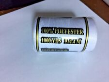 Sewing Yarn Coils Syngarn 40s/2 100 Polyester 500m per Roll for Every Machine Black 12 Rolls