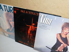 lot 3 LP TINA TURNER private dancer IKE AND HER MAN HIS WOMAN one of the living