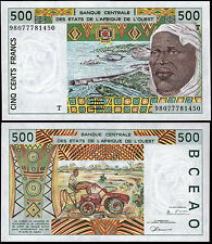 WEST AFRICAN STATES 500 FRANCS (P810Ti) N. D. (1998) TOGO UNC