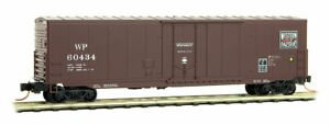 Micro-Trains MTL N-Scale 50ft PD Box Car Western Pacific/WP (Brown/White) #60434