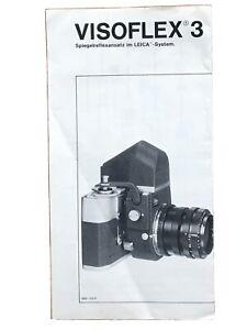 Leica Visoflex 3 - zweiseitiger Prospekt von IX/74