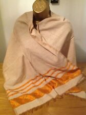 Ethiopian Traditional Scarve with ORANGE Tilet and  a touch of Golden!