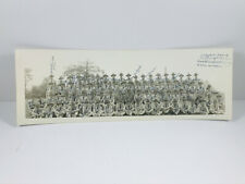 STUNNING WW1 WW2 Doughboys Camp panoramic photo SIGNED fort sheridan