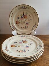 """Set of 4 Newcor 'OUR COUNTRY' Stoneware Dinner Plates ~ 10 1/2"""""""
