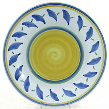 """Williams-Sonoma TOURNESOL 14"""" Round Platter Chop Plate Italy Blue Green Yellow"""
