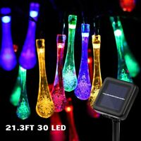 30/100 LED Solar String Lights Waterproof Garden Patio Yard Landscape Decor Lamp