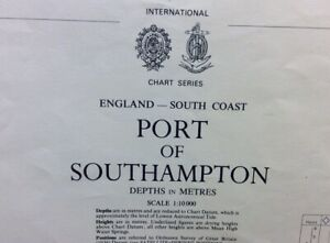ADMIRALTY  SEA  CHART. PORT of SOUTHAMPTON. No.2041. England South Coast. 1974.
