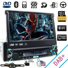 """Single 1Din In-dash Car Stereo 7"""" Touch Screen DVD/CD Player GPS DAB+ iPod Radio"""