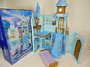 Disney Cinderella Barbie Enchanted Evening Castle Folding Dollhouse Mattel 2004