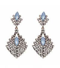 Asos Sky Blue Chandelier Stone STATEMENT CRYSTAL Drop Party Xmas EARRINGS