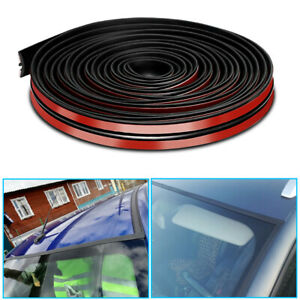 4M Car Roof Windshield Sealing Noise T-shaped Rubber Strip Sticker Accessories