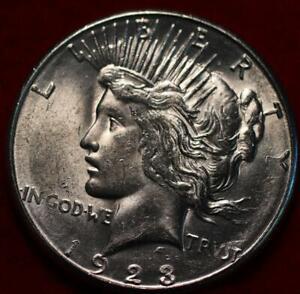 Uncirculated 1923-S San Francisco Mint Silver Peace Dollar