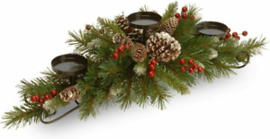 National Tree Company Artificial Christmas Centerpiece | Frosted Berry