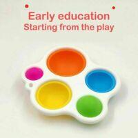 Fidget Simple Dimple Silicone Flippy Board Baby Brain Development Training Toys
