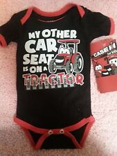 NWT BOYS John Deere  MY OTHER CAR SEAT IN ON A TRACTOR SIZE LARGE LG ONSIE