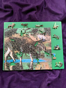 New! Hand-cut 'Northern Woods' Heirloom-Grade Wooden Puzzle - 287 Pieces.